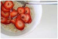 porridge&strawberries