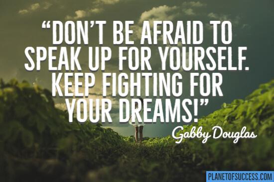 别害怕你自己说