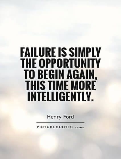 Failure as opportunity