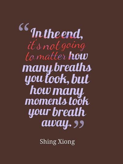 你的呼吸不会