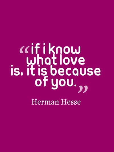Know what love is