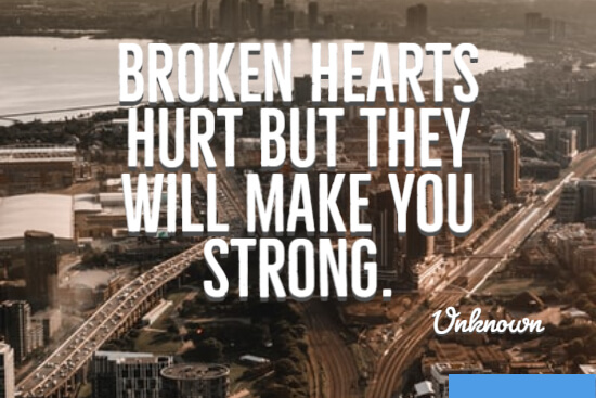 Broken hearts hurt