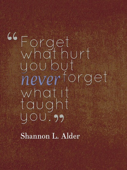 Shannon L. Alder Never Forget What Failure Taught You