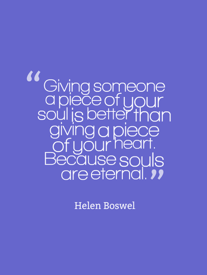 Giving someone your soul