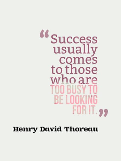 Success comes to those