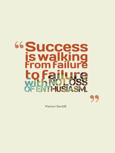 Success is walking from failure