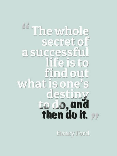 The secret of a successful life