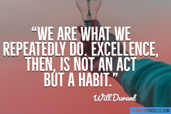 We are what we repeatedly do quote