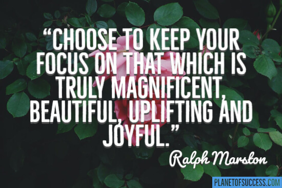 Choose to keep your focus
