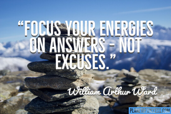 Focus your energies