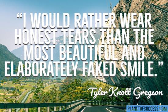 Beautiful and elaborately fake smile