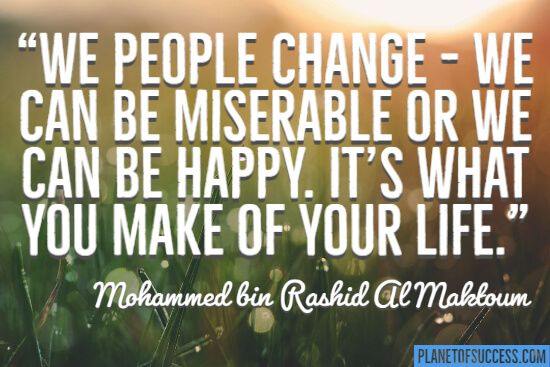 We people change quote