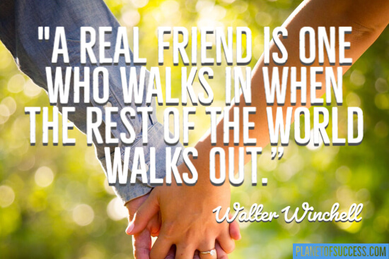 A real friend quote