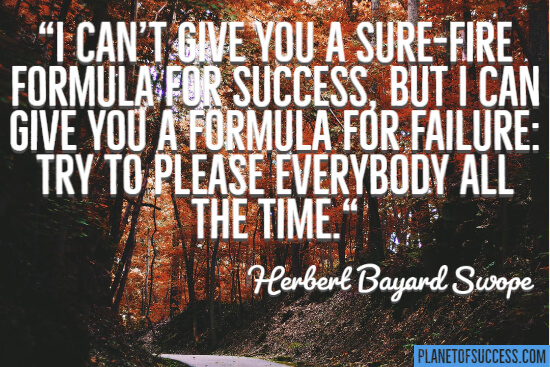 I can't give you a surefire formula for success quote