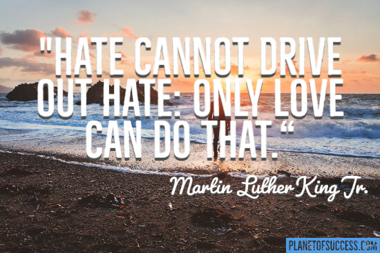 Hate cannot drive out hate quote