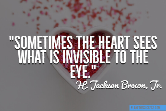 What is invisible to the eye quote