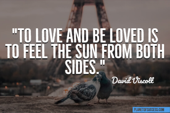 Feel the sun from both sides quote