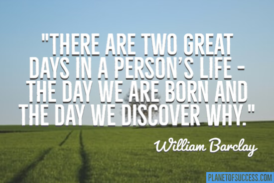 The day we are born quote