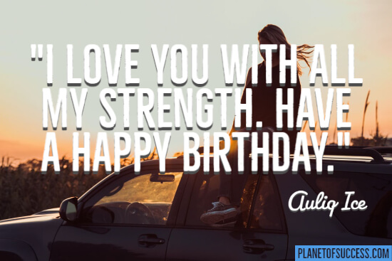 I love you with all my strength quote