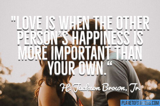 The other person's happiness