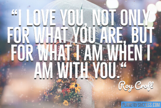 What I am with you