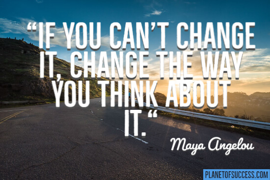 If you can't change it