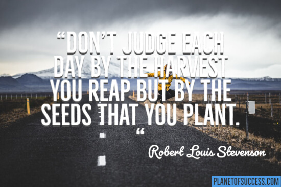 The seeds that you plant