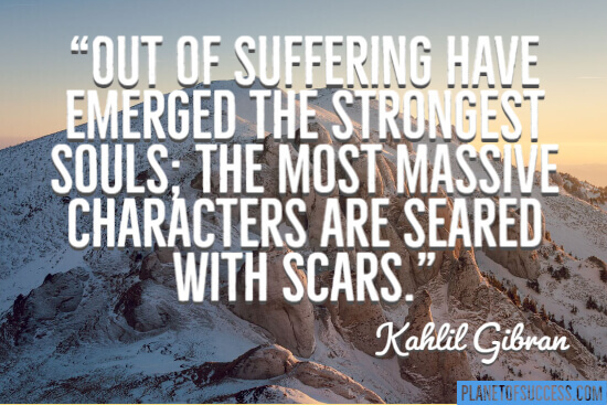 Out of suffering have emerged the strongest souls quote