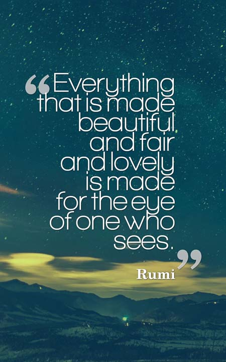 Rumi Quotes On Life Stunning 75 Lifechanging Rumi Quotes To Inspire You  Planet Of Success