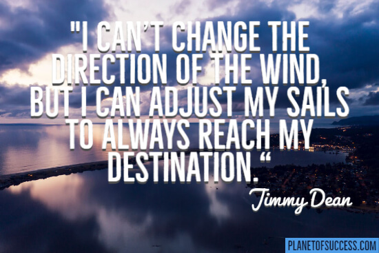 Change the direction of the wind quote