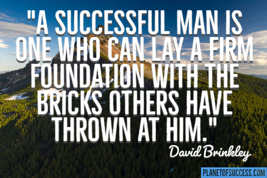 A successful man quote