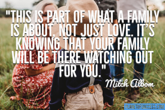 This is part of what a family is about quote
