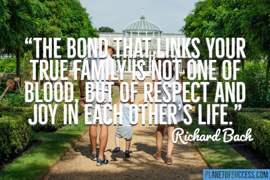 The bond that links us to our true family quote