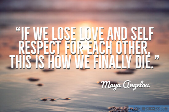 If we use love and self-respect quote