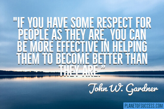 If you have some respect for people