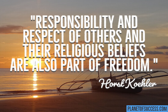 Responsibility and respect