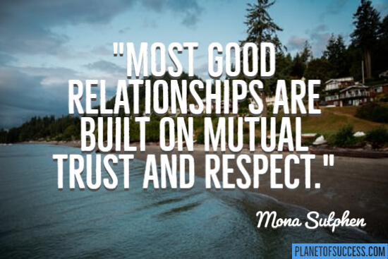 Most good relationships