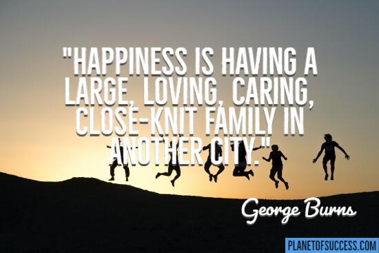 A close-knit family