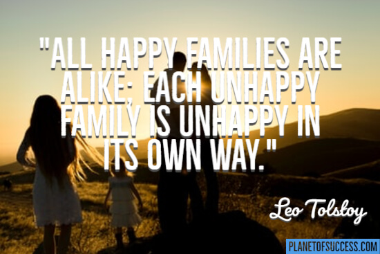 All happy families are alike