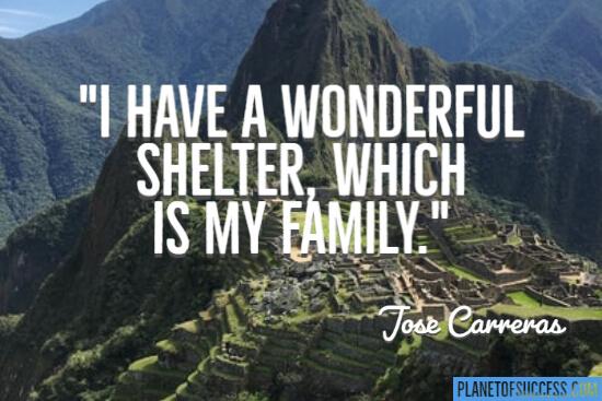 I have a wonderful shelter