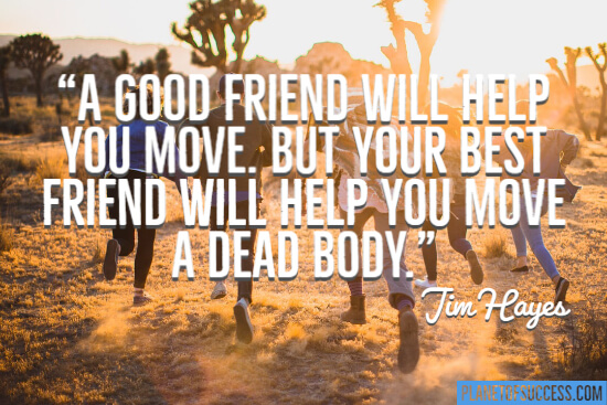 A good friend will help you move quote