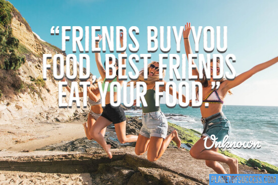 Friends by you food quote