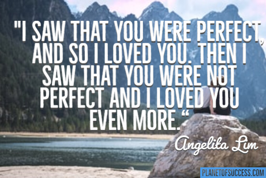 I saw that you were perfect