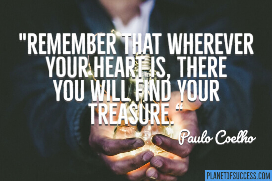 Find your treasure quote