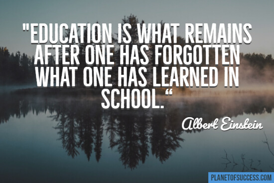 Education is what remains quote