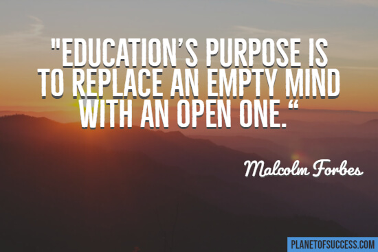 Educations purpose quote