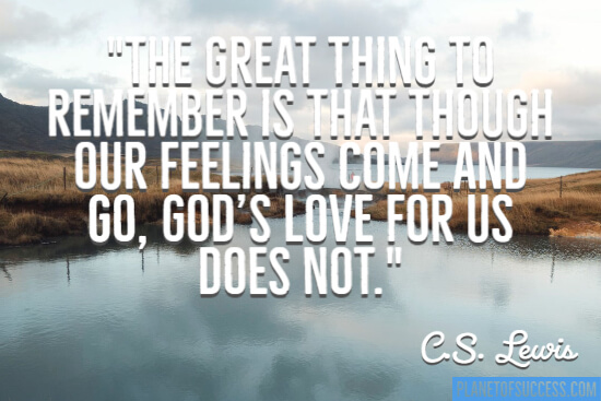 God's love for us quote