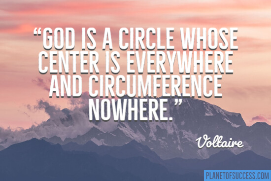 God is a circle quote