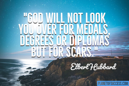 God will not look you over for medals quote
