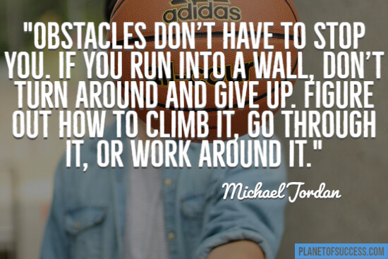 Michael Jordan basketball quote about obstacles